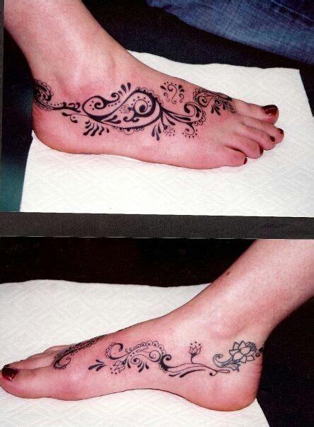 Paisley Pattern Foot Tattoo | paisley foot tattoo ideas pinterest