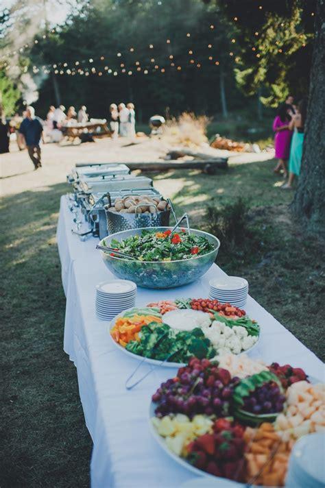 Backyard Wedding Buffet Outdoor Wedding Buffet