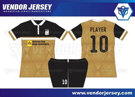 desain kerah lubang leher pembuatan baju futsal vendor pembuatan jersey futsal tim pln palembang vendor jersey