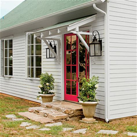 over the door awnings love the over the door awning and the exterior lights and