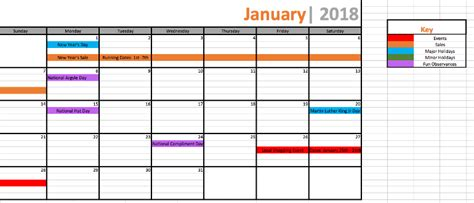 marketing promotional calendar organize sales planning