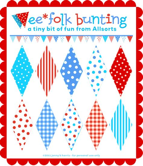 printable bunting flags free download a free printable to make wee folk bunting allsorts