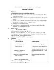 detailed lesson plan template detailed lesson plan math science