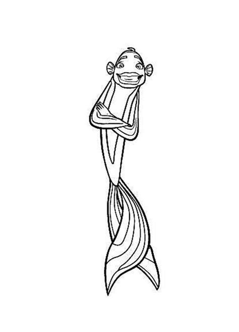 Shark Tales Coloring Pages Download And Print For Free Shark Tale Coloring Pages