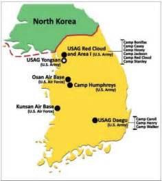 Korean peninsula u s military installations base housing inspected by