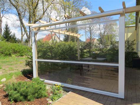 terrasse regenschutz regenschutz als markise rollo oder seitenwand