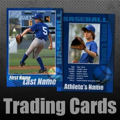 Photoshop Baseball Trading Card Template by Baseball Trading Cards Custom Editable Templates For