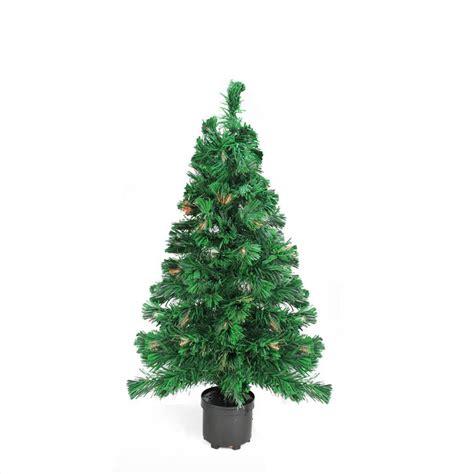 pre lit color changing fiber optic artificial christmas