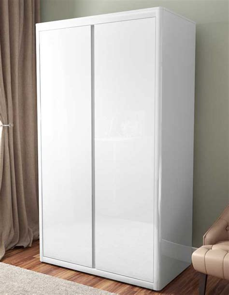 White Gloss Wardrobe white high gloss wardrobe furniture123