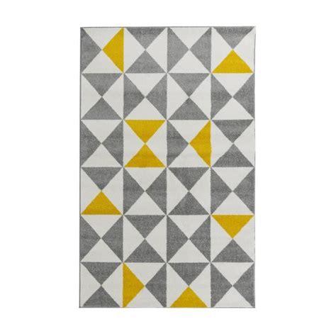 fly tapis de salon forsa tapis de salon jaune et anthracite 120x160 cm