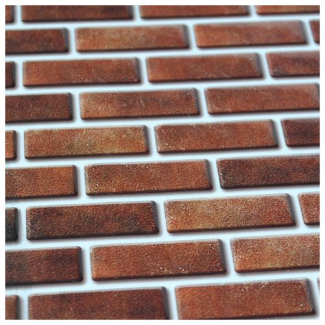 peel and stick wall tile in brick style for kitchen and bathroom 10 pics