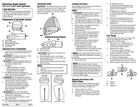 tekonsha voyager user manual 6 pages