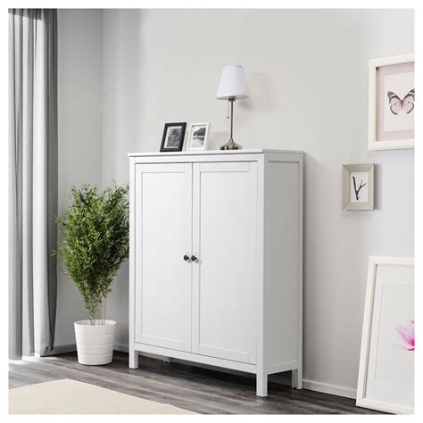 Staining Cabinets White by Hemnes Cabinet With 2 Doors White Stain 99x130 Cm