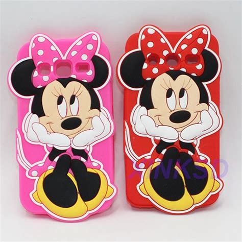 Soft 3d Samsung Galaxy E5 3d minnie mouse soft silicone cover for