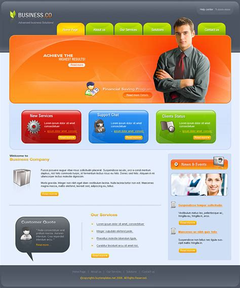 business site template free cheap web templates for business companies