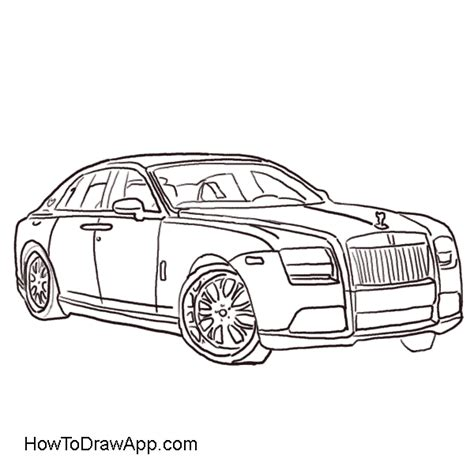 cartoon rolls royce how to draw a rolls royce step by step a photo lesson