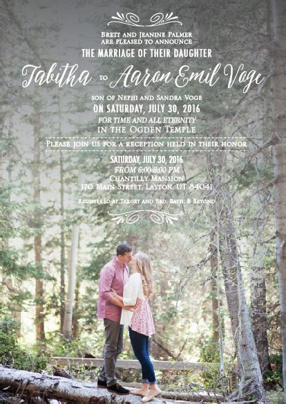 Wedding Announcements Utah by Cheap Wedding Invitations Wedding Announcements Utah