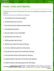 Noun And Verb Worksheets by Noun And Adjective Worksheet Descargardropbox