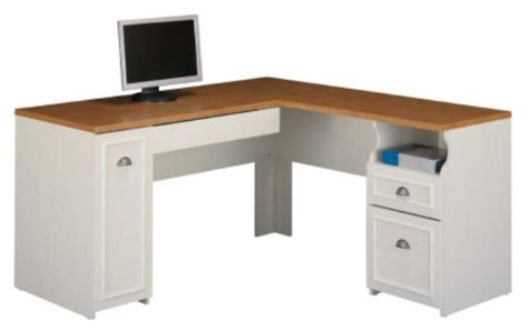 bush office desks white l shaped office desk bush wc53230