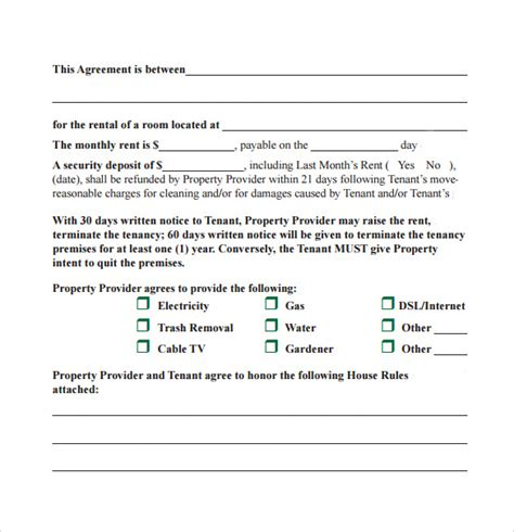 month to month rental agreement template sle month to month lease agreement 8 free documents
