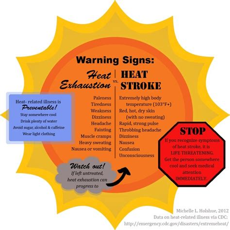 heat stroke signs warning signs for heat stroke ems knowledge