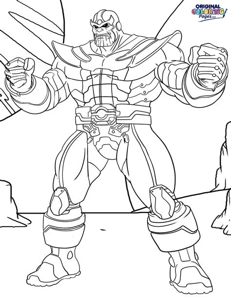 Marvel Thanos Coloring Pages | thanos coloring page coloring pages original coloring