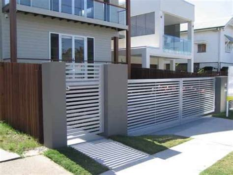 desain pagar rumah minimalis warna putih gambar pagar rumah minimalis model desain bentuk dan