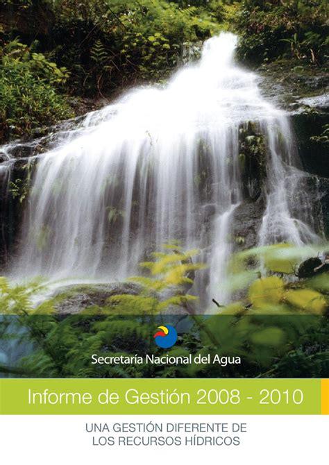 una gestion diferente de los recursos hidricos ecuador