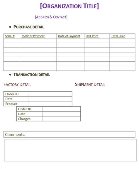 purchase invoice 5 purchase invoice templates exles in word pdf