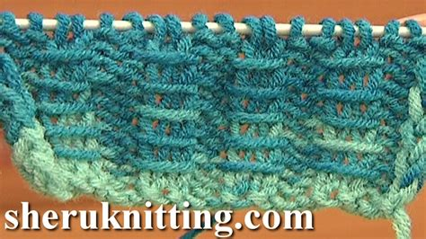 video tutorial knitting two by two ribbing with bars knitting tutorial 10 free