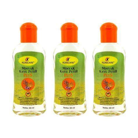 Konicare Minyak Telon Plus 60 Ml Tutup Ungu 60ml Anti Gigitan Nyamuk jual konicare minyak kayu putih plus 60 ml 3 pcs harga kualitas terjamin blibli