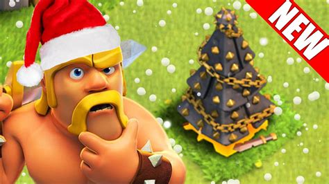 in coc xmas tree in 2016 clash of clans winter update new troops with spells 2016