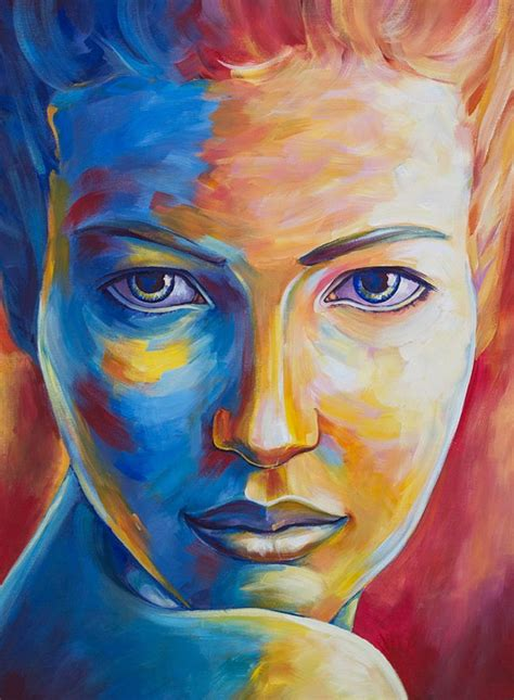 complementary colors portrait painting search inspirations