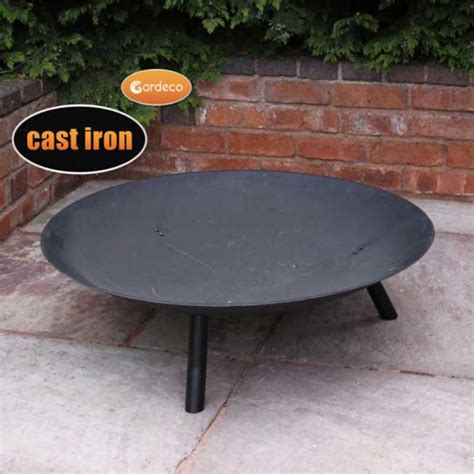 Gardeco Gwell Cast Iron Fire Pit 90cm Diameter On Sale Cast Iron Firepit