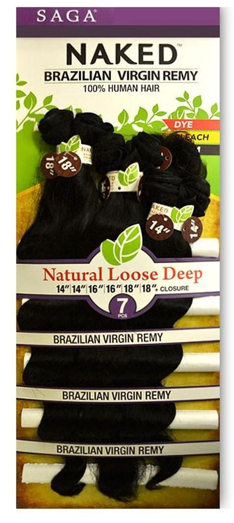 saga brazilian remy loose deep saga naked brazilian virgin remy natural loose deep weave