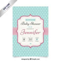 fancy baby shower invitation vector free