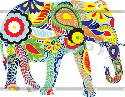 indian pattern vector ai elephant with indian patterns stock vector graphics