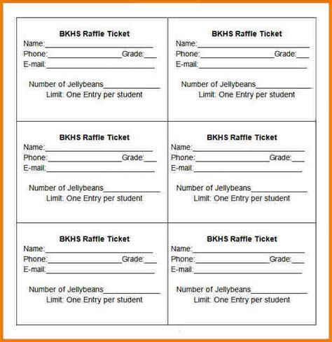 raffle tickets template authorization letter pdf