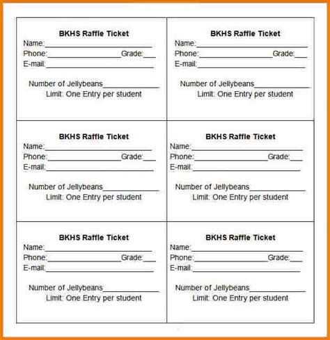 free printable raffle ticket template authorization raffle ticket templates authorization letter pdf