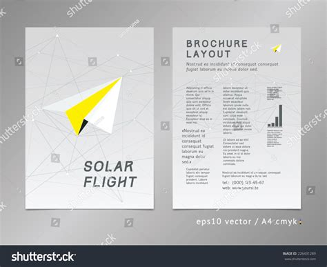 leaflet page layout leaflet brochure cover page layout template stock vector