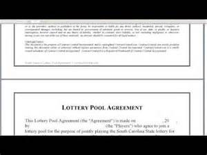 Lottery Pool Agreement Template office lottery pool contract sample submited images