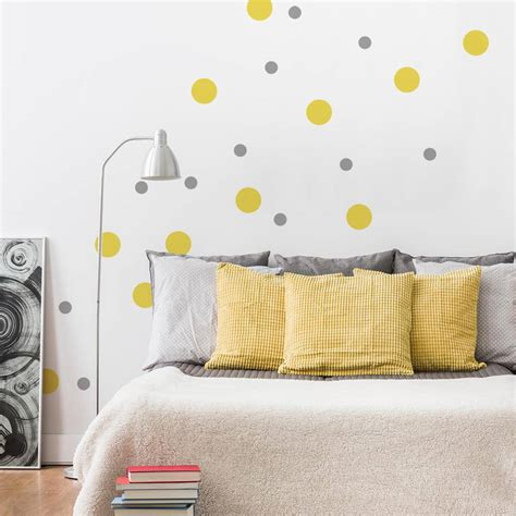 peel and stick wall stickers peel and stick polka dots wall sticker by sirface graphics