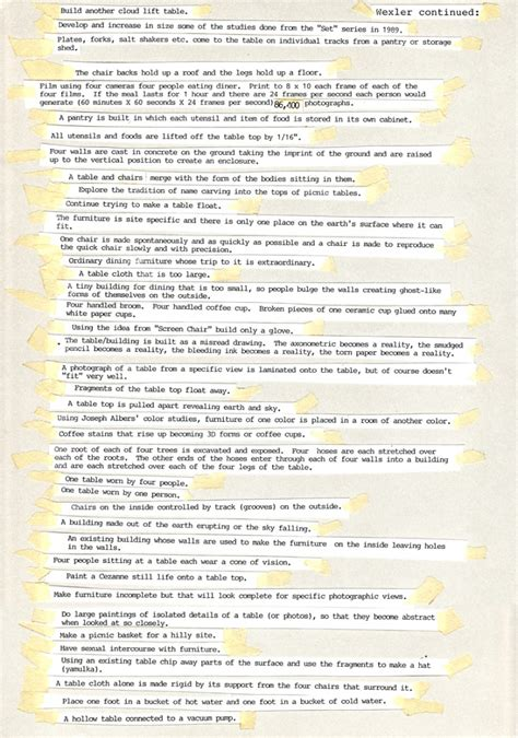 list of things to do from a list of things to do 1998 allan wexler