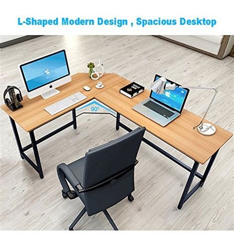 L Shaped Study Desk Tribesigns Modern L Shaped Desk Corner Computer Desk Pc Latop Study Table Workstation Home