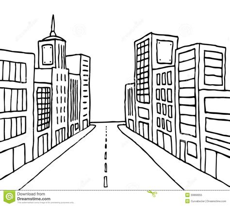 city background coloring page color cartoon line city stock illustration illustration