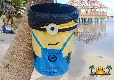 eco minion dfc eco rangers adopt a minion trash can aims to keep la