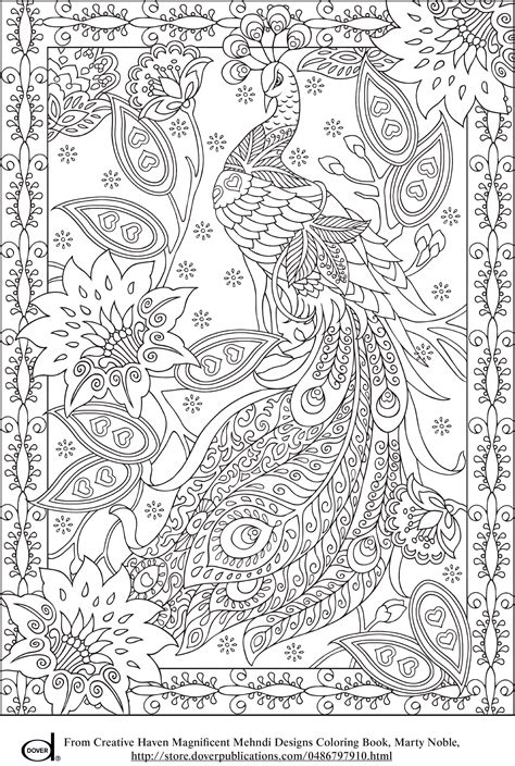 coloring page adult peacock feather coloring pages colouring adult detailed