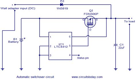 automatic changeover circuit electronic circuits and