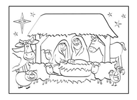 christian coloring card templates card nativity ichild