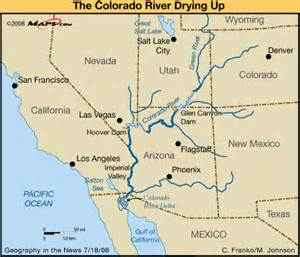 river map dams in southwestern us
